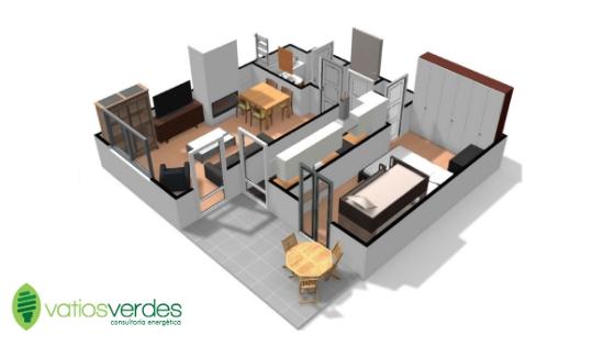 Plano 3D de viviendas