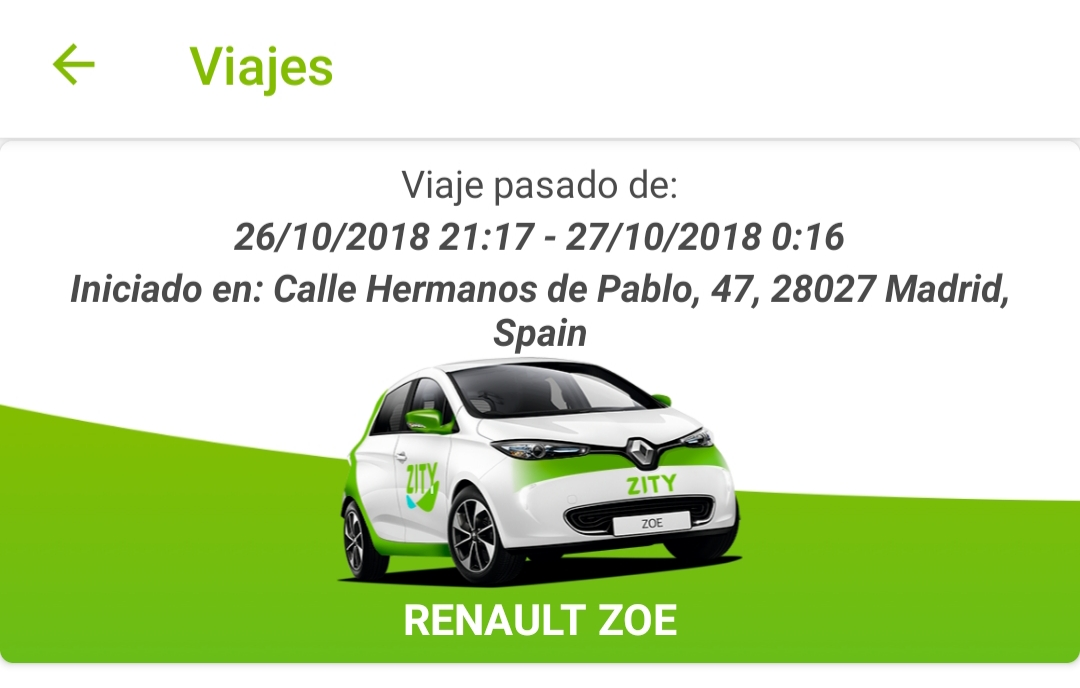 Zity, el carsharing flexible de Madrid